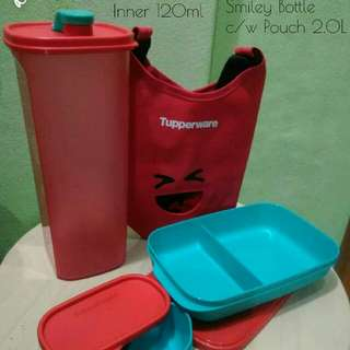 FoodieBuddy + Smiley Bottle (Red) Tupperware