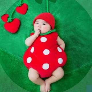 Baby Red Strawberry Costume