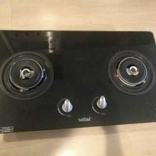 Tellini Gas Hob and Hood with Fan