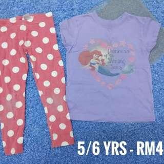 5/6 years - Kids Cloth Shirt Dress Baby Girl Boy