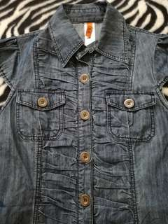 Denim Dress - Short Sleeve
