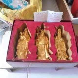 24K Gold Plated Fu Lu Shou