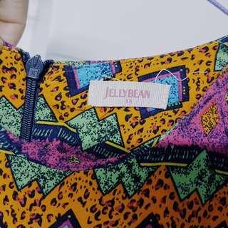 Jellybean Aztec Print Dress