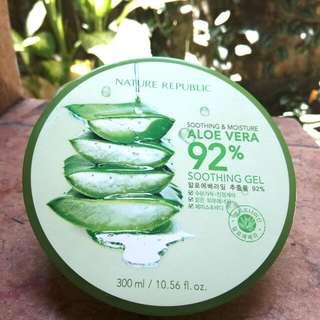 Nature Republic Aloe Vera 92% Soothing Gel 300ml Korea (100% ORIGINAL)