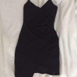 Mendocino Asymmetrical Black dress
