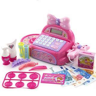 Pretty & Sweety Cash Register with Big Ribbon and Make up play set
