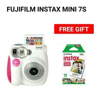 Fujifilm Instax Mini 7s with 1 Pack Plain Film