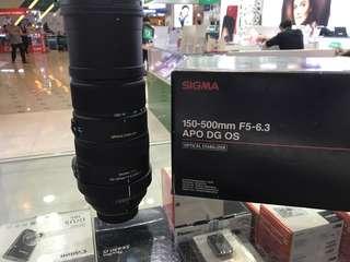 Sigma 150-500 f5-6.3 apo dg os