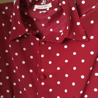 [SALE] Esprit | Red Polka dot Polo Shirt | 👚 318-EB11