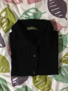 Black Cotton Shirt 黑色棉質恤衫