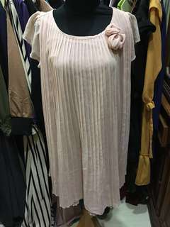 Chic Simple Pink Silk Dress