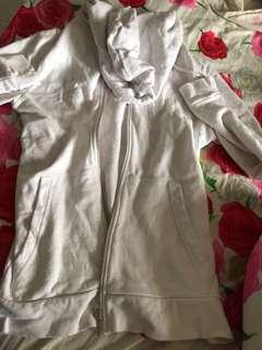 Asos white zip hoodie
