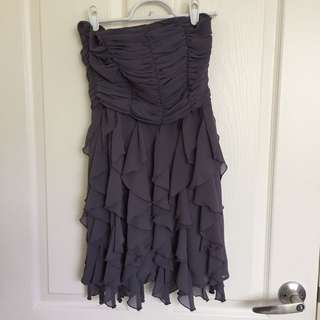 Greyish purple strapless cocktail dress size 8