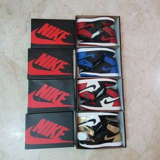 Air Jordan 1s for sale !! Breds, Royals, Bred Toes and Gold toes 🔥