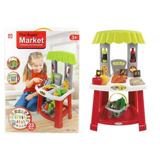 The Super Market Playset Fun Toy c/w Grocery toys