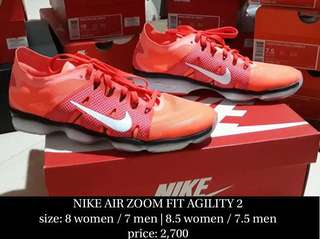 NIKE AIR ZOOM FIT AGILITY 2 size 7 (100% authentic)