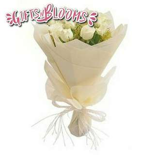 Fresh Flower Bouquet Anniversary Birthday Flower Gifts Graduation Roses Sunfowers Baby Breath -  7850     48