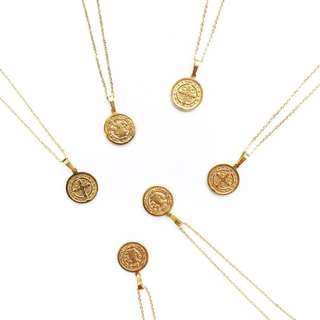 Medallion Necklace / coin necklace