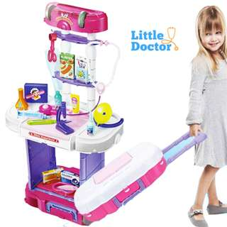 3in1 Little Doctor Set+Luggage Style+Music Light