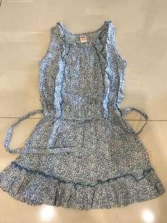 3y blue floral dress