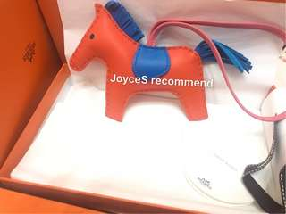Hermes Rodeo Poppy Rose Azalee Zanz MM 橙小馬 8v 8w b3