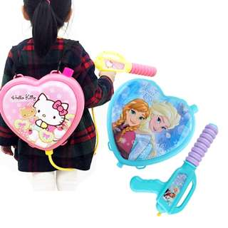 Little Kids Water Guns Powerful Pistol Squirt Gun Backpack Toy-Frozen/Kitty