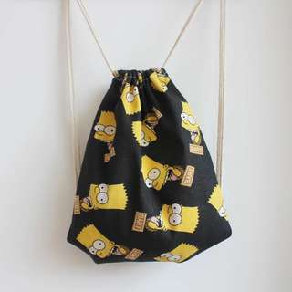 Drawstring Bag black Simpsons