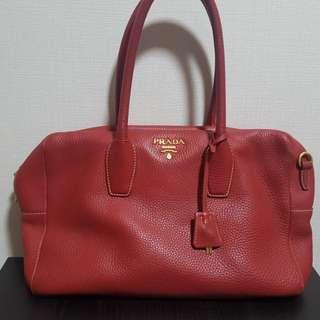 authentic Prada red handbag