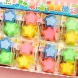 (Preorder Bulk Purchase) Double Stars Erasers x 24 pkts