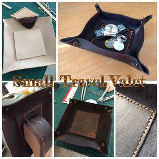 Handcrafted Leather Travel Valet