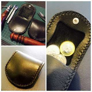 Handcrafted Leather Coin Pouch.