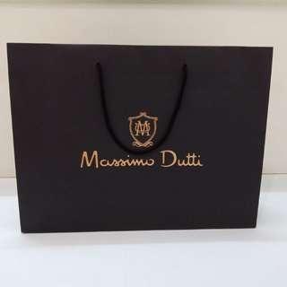 Massimo Dutti Paperbag Original branded paper bag authentic