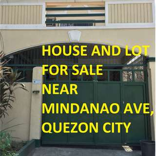 HOUSE AND LOT FOR SALE in Kingspoint Subd., Novaliches, Quezon City near Mindanao Ave