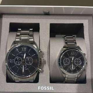 Buy 1 Get 1 Fossil Couple Watch with Free Engrave