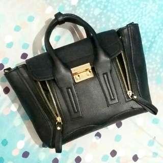 Black Structured Bag / Tas Hitam Formal + Tali panjang