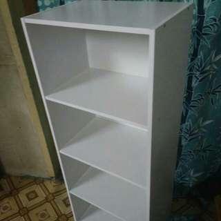 Book shelf wood rack cabinet rak kayu kabinet kayu