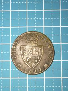🔥Clearance🔥England King Georgis III Gaming Token Year 1797 Rare