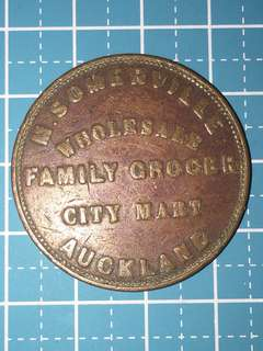 🔥Clearance🔥New Zealand Auckland M Somerville Family Grocery Mary Token Year 1857 Rare