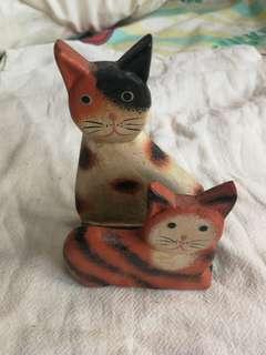 (包郵) 義賣 助毛小孩 日本貓貓木製裝飾卡片架 11.5cm高