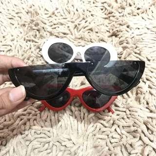 Half sunglasses black kacamata watermelon hitam