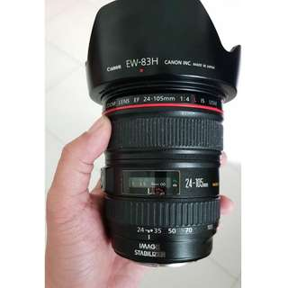 Canon EF 24-105mm F4L IS Zoom Lens 24 - 105 mm