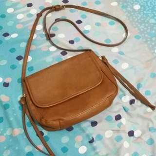 Stradivarius brown sling bag ORI