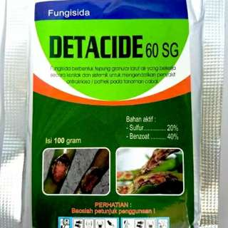 Fungisida DETACIDE 60 SG 100 gram