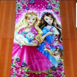 Barbie girls bath towel