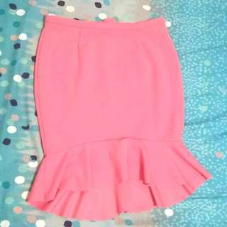 Pink Bodycon Mermaid Skirt