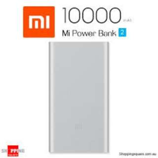 BRAND NEW FREE DELIVERY - GENUINE Xiaomi Mi Power Bank 2 10000mAh (Silver)