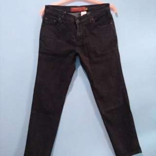 <new> jeans wanita / pria excell stretch hitam