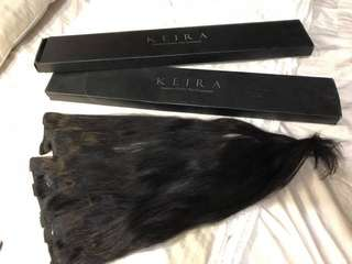 KEIRA HAIR EXTENSIONS   Black 22 Waist length | clip on hair extensions   For sale 💁🏾‍♀️