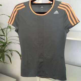 Adidas Response SS Tee - Grey Orange Flash