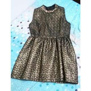 Gold Mini Dress